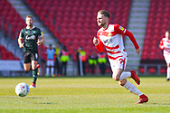 Alfie May of Doncaster Rovers (19) in action during the EFL Sky Bet League 1 match between Doncaster Rovers and Plymouth Argyle at the Keepmoat Stadium, Doncaster, England on 13 April 2019.