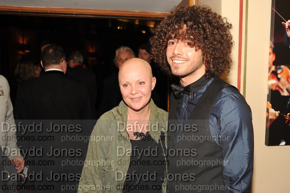 GAIL PORTER; JONNY DAVIES, The VIP night for Cirque Du Soleil: Quidam at  the Royal Albert Hall, London. 7 January 2013