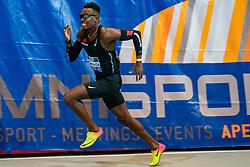 Liemarvin Bonevacia in action on the 400 meter during AA Drink Dutch Athletics Championship Indoor on 21 February 2021 in Apeldoorn.