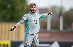 NEWPORT, WALES - Friday, September 3, 2021: Wales' goalkeeper Tyler Evans during an International Friendly Challenge match between Wales Under-18's and England Under-18's at Spytty Park. (Pic by David Rawcliffe/Propaganda)