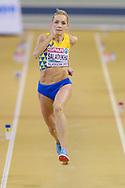 Olga Saladukha (Ukraine) Women's Triple Jump, during the European Athletics Indoor Championships at Emirates Arena, Glasgow, United Kingdom on 3 March 2019.
