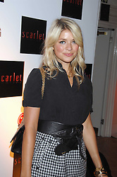 TV presenter HOLLY WILLOUGHBY at the Scarlet TV Launch Party -  a new series of flat panel LCD televisons from LG electronics held at the refurbished church, 1 Marylebone, London on 30th April 2008.<br /><br />NON EXCLUSIVE - WORLD RIGHTS