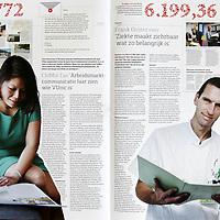 Nederland, Amsterdam , december 2014<br /> Laatste uitgave van Tracer, personeelsblad van VUmc<br /> Foto:Jean-Pierre Jans