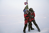 Ekspedisjoner<br /> Foto: Dppi/Digitalsport<br /> NORWAY ONLY<br /> <br /> ADVENTURE - MIKE HORN AND BORGE OUSLAND NORTH POLE WINTER EXPEDITION 2006 - ARCTIC ICE FIELD - 01/02/2006<br /> <br /> PHOTO : MIKE HORN / MIKEHORN.COM / DPPI<br /> <br /> MIKE HORN (RSA) AND BØRGE OUSLAND (NOR) BECOME THE FIRST MEN TO JOIN NORTH POLE COMPLETELY UNASSISTED IN ARCTIC WINTER AFTER WALKING 1000 KM IN 60 DAYS AND 5 HOURS - THEY LEFT CAPE ARTICHEVSKY 20/01/2006 AT 09:00 GMT AND REACHED NORTH POLE 23/03/2006 - MIKE HORN AND BORGE OUSLAND ARRIVING AT THE POLE
