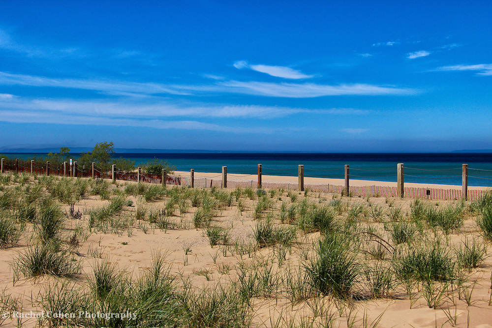 """""""Sand and Blue""""<br /> <br /> Dreamy Blue scene at Glen Haven Michigan gazing out onto Lake Michigan!!<br /> <br /> The Great Lakes by Rachel Cohen"""