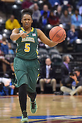 April 4, 2016; Indianapolis, Ind.; Christina Davis runs the offense in the NCAA Division II Women's Basketball National Championship game at Bankers Life Fieldhouse between UAA and Lubbock Christian. The Seawolves lost to the Lady Chaps 78-73.