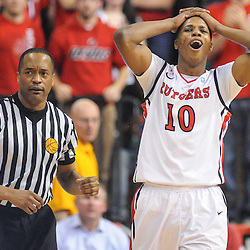 Rutgers Scarlet Knights guard/forward Mike Poole (10) reacts to his fourth personal foul during second half NCAA Men's Big East Basketball action between Rutgers and Villanova at the Louis Brown Athletic Center. Villanova defeated Rutgers 77-71.