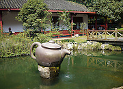 Giant teapot at the Mei Jia Wu tea plantation, Hangzhou, China