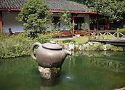 Giant teapot at the Mei Jia Wu tea plantation, Hangzhou, China