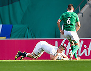 England second-row Stan South dives over to score a try during the World Rugby U20 Championship Final   match England U20 -V- Ireland U20 at The AJ Bell Stadium, Salford, Greater Manchester, England onSaturday, June 25, 2016. (Steve Flynn/Image of Sport)