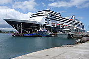 South Pacific, Samoa, Upolu Island Apia cruise ship docked in the harbour