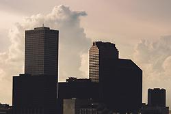 THEMENBILD - Blick auf den Finanzbezirk von der Crescent City Connection Bruecke, aufgenommen am 06.08.2019, New Orleans, Vereinigte Staaten von Amerika // view of the financial district from the Crescent City Connection Bridge, New Orleans, United States of America on 2019/08/06. EXPA Pictures © 2019, PhotoCredit: EXPA/ Florian Schroetter