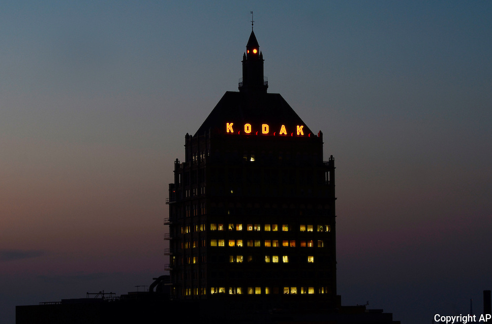 Kodak Headquarters at dusk in Rochester, NY, Wed., August 28, 2013.<br /> (AP Photos/Heather Ainsworth)