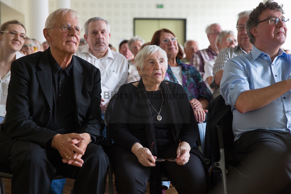 """Berlin, Germany - 19.06.2016 <br /> <br /> Esther Bejarano is awarded the Prize for Solidarity and Human Dignity by the Buendnis für Soziale Gerechtigkeit und Menschenwuerde (""""Alliance for Social Justice and Human Dignity"""")<br /> <br /> Verleihung des Preises fuer Solidaritaet und Menschenwuerde des Buendnis für Soziale Gerechtigkeit und Menschenwuerde e.V. an Esther Bejarano<br /> <br /> Photo: Bjoern Kietzmann"""