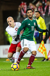 November 13, 2017 - Gdansk, Poland - Carlos Vela (MEX), Rafal Kurzawa (POL) during the International Friendly match between Poland and Mexico at Energa Stadium in Gdansk, Poland on November 13, 2017. (Credit Image: © Foto Olimpik/NurPhoto via ZUMA Press)