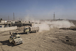 November 26, 2016 - Iraqi army armoured vehicles at the suburbs of Mosul. (Credit Image: © Berci Feher via ZUMA Wire)
