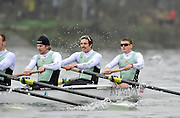 """LONDON, ENGLAND - Thursday  13/12/2012; Cambridge University Crew; """"Mash"""",  right to left , Bow: Rowan Lawson, 2: Alex Ross and 3: Jack Lindeman, during the annual Varsity trial 8's for The BNY Melon University Boat Race over the Championship Course [Putney to Mortlake]. The River Thames, England. (Mandatory Credit/ Peter  Spurrier/Intersport Images]"""