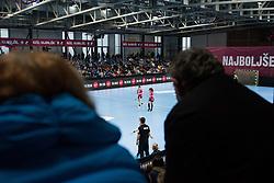 Tsakalou Lamprini of RK Krim Mercator and Stanko Tjasa of RK Krim Merkator  during Handball match between RK Krim Mercator vs Vipers Kristiansand in Main Round of EHF Women's Champion League 2018/19, on January 26, 2019 in Kodeljevo, Ljubljana, Slovenia. Photo by Matic Ritonja / Sportida
