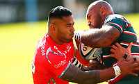 Rugby Union - 2019 / 2020 Gallagher Premiership - Leicester Tigers vs Sale Sharks<br /> <br /> Manu Tuilagi of Sale Sharks and Nemani Nadolo of Leicester Tigers at Welford Road.<br /> <br /> COLORSPORT/LYNNE CAMERON