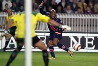 Fotball<br /> Frankrike 2004/05<br /> Paris Saint Germain v Ajaccio<br /> 24. oktober 2004<br /> Foto: Digitalsport<br /> NORWAY ONLY<br /> FABRICE PANCRATE (PSG)