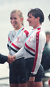 Tampere Kaukajaervi,  FINLAND.   Women's Pair USA W2- Karen KRAFT and Missy SCHWEN - RYAN, competing at the 1995 World Rowing Championships - Lake Tampere, 08.1995<br /> <br /> [Mandatory Credit; Peter Spurrier/Intersport-images] Re-Edited and file ref No. updated, 16th January 2021.