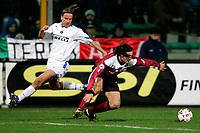 REGGIO CALABRIA, 15/01/2005<br /> <br /> CAMPIONATO DI CALCIO SERIE A 2004/2005<br /> <br /> INCONTRO REGGINA-INTER 0-0 <br /> <br /> Andy VAN DER MEYDE (Inter) (L) and Jacopo BALESTRI (Reggina) (R)<br /> <br /> FOTO Branch / GRAFFITI