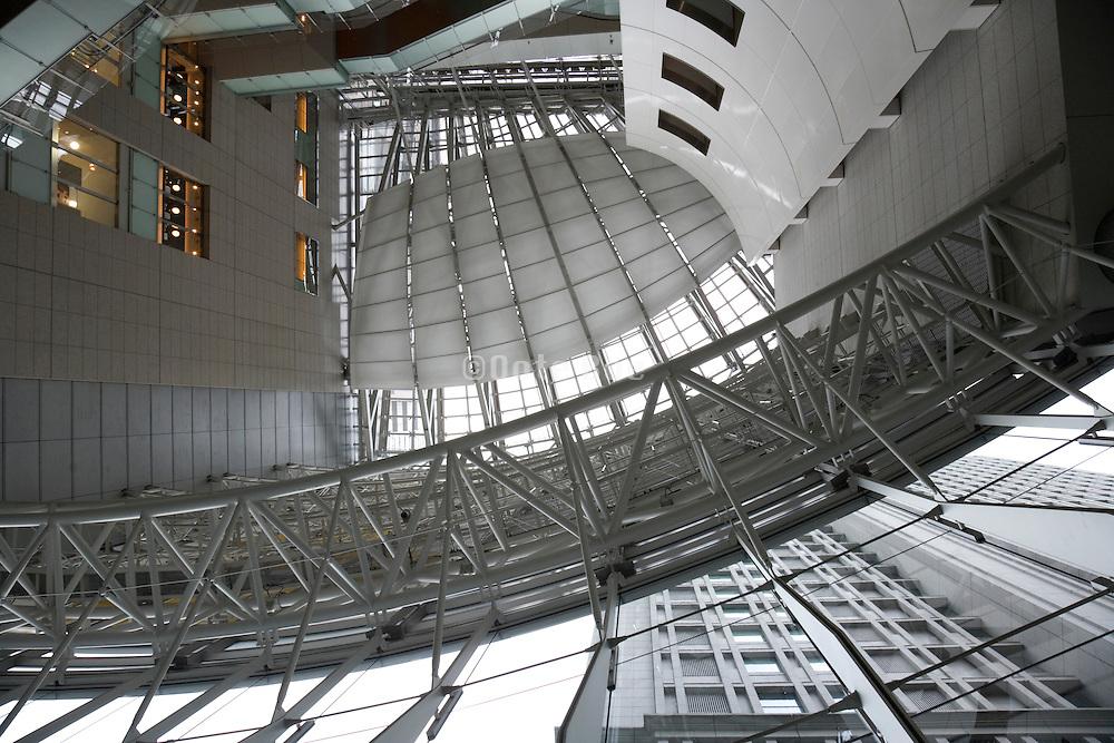atrium in modern office building in the Marunouchi area of Tokyo