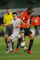 FOOTBALL - FRENCH CHAMPIONSHIP 2009/2010 - L1 - STADE RENNAIS v AS MONACO - 6/03/2010 - PHOTO PASCAL ALLEE / DPPI - JIMMY BRIAND (RENNES) / MATHIEU KOUTADEUR (ASM)