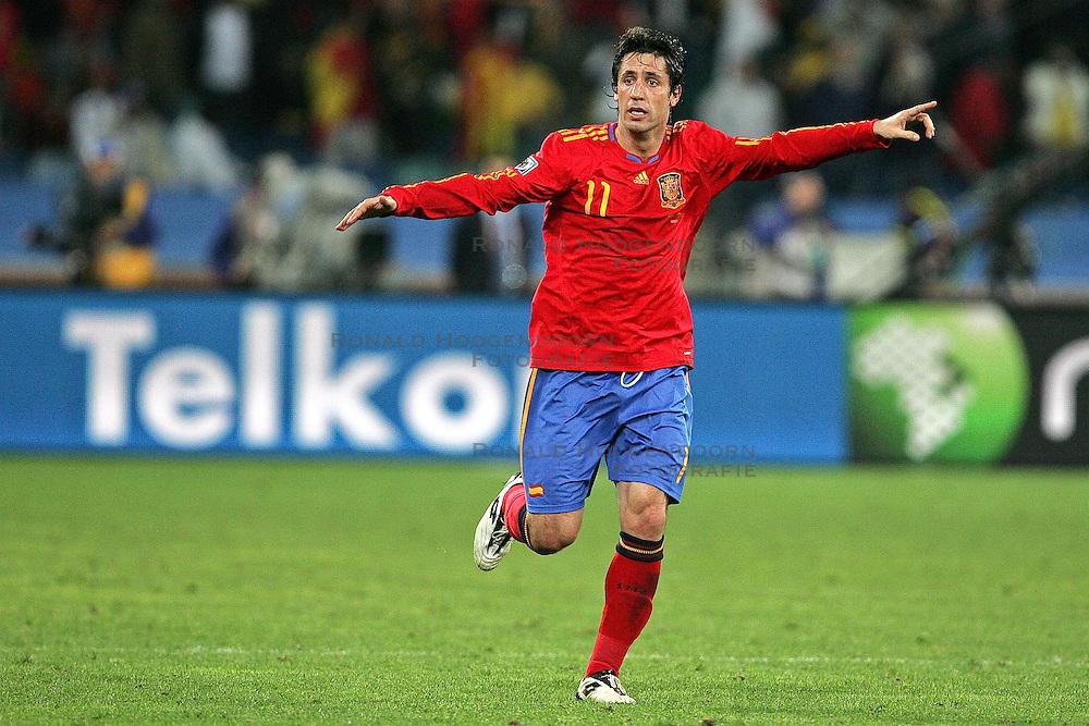 07-07-2010 VOETBAL: FIFA WORLDCUP 2010 SPANJE - DUITSLAND: DURBAN<br /> Halve finale WC 2010 - Spanje wint met 1-0 van Duitsland /  Joan Capdevila of Spain<br /> ©2010-FRH- NPH/ Kokenge (Netherlands only)