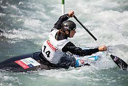 Alja Kozorog of Slovenia competes in Canoe Single (C1) Women during International Slalom Kayak-Canoe competition, on May 6, 2018 in Tacen, Ljubljana, Slovenia. Photo by Vid Ponikvar / Sportida