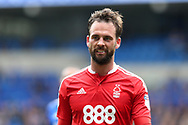 Daniel Fox of Nottingham Forest looks on. .EFL Skybet championship match, Cardiff city v Nottingham Forest at the Cardiff City Stadium in Cardiff, South Wales on Easter Monday 17th April 2017.<br /> pic by Andrew Orchard, Andrew Orchard sports photography.
