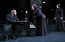 Major Barbara<br /> by Bernard Shaw<br /> at the Olivier Theatre, Southbank, London, Great Britain<br /> press photocall<br /> 3rd March 2008 <br /> <br /> Simon Russell Beale (as Andrew Undershaft)<br /> Maggie McCarthy (as Mrs Baines)<br /> Hayley Atwell (as Barbara Undershaft)<br /> Katherine Burford (as Jenny Hill)<br /> <br /> <br /> Photograph by Elliott Franks