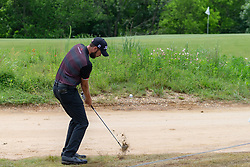May 9, 2019 - Dallas, TX, U.S. - DALLAS, TX - MAY 09: Troy Merritt chips to the seventh green from the muddy rough during the first round of the AT&T Byron Nelson on May 9, 2019 at Trinity Forest Golf Club in Dallas, TX. (Photo by Andrew Dieb/Icon Sportswire) (Credit Image: © Andrew Dieb/Icon SMI via ZUMA Press)