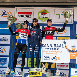 2020-01-01 Cycling: dvv verzekeringen trofee: Baal: Ceylin del Carmen Alvarado wins the first race of the year ahead of Lucinda Brand andd Annemarie Worst