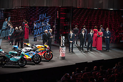 November 12, 2017 - Valencia, Valencia, Spain - FIM Awards Ceremony after the Gran Premio Motul de la Comunitat Valenciana, in Palacio de Congresos of Valencia, Spain. Sunday 12th of november 2017. (Credit Image: © Jose Breton/NurPhoto via ZUMA Press)