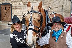 Granbury Square + Valor the Belgian Draft Horse