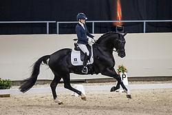 Fry Charlotte, GBR, Kjento<br /> KWPN Hengstenkeuring 2021<br /> © Hippo Foto - Dirk Caremans<br />  06/02/2021