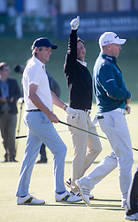 Alan Hansen and Andriy Shevchenko. Alfred Dunhill Links Championship this morning at St Andrews.