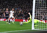 Football - 2019 / 2020 UEFA Champions League - Group B: Tottenham Hotspur vs. Red Star Belgrade<br /> <br /> Harry Kane of Tottenham scores goal no 5 past goalkeeper, Milan Borjan, at The Tottenham Hotspur Stadium.<br /> <br /> COLORSPORT/ANDREW COWIE