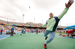 Miro Vodovnik of Slovenia at warmig up during the Mens Shot Put Qualifying during day four of the 20th European Athletics Championships at the Olympic Stadium on July 30, 2010 in Barcelona, Spain. (Photo by Vid Ponikvar / Sportida)
