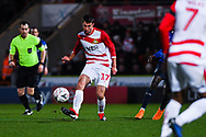 Matty Blair of Doncaster Rovers (17) in action during the The FA Cup fourth round match between Doncaster Rovers and Oldham Athletic at the Keepmoat Stadium, Doncaster, England on 26 January 2019.