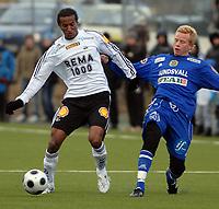Fotball, treningskamp 16.03.08, Rosenborg - Sundsvall,<br /> Roy Miller og Tobias Eriksson,<br /> Foto: Carl-Erik Eriksson, Digitalsport