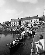 Dingle Regatta.22/08/1976.08/22/1976.22nd August 1976.Preparations being made for the Seine Boat Competition, which took place on Sunday, 23/08/1976