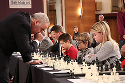 ZAGREB, Dec. 30, 2017 Russian chess grandmaster and former world champion Garry Kasparov (L) plays against children during a simultaneous chess exhibition match in Zagreb, Croatia, on Dec. 29, 2017. (Credit Image: © Relja Dusek/Xinhua via ZUMA Wire)