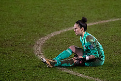 BIRKENHEAD, ENGLAND - Sunday, March 28, 2021: Blackburn Rovers' goalkeeper Alexandra Brooks during the FA Women's Championship game between Liverpool FC Women and Blackburn Rovers Ladies FC at Prenton Park. The game ended in a 1-1 draw. (Pic by David Rawcliffe/Propaganda)