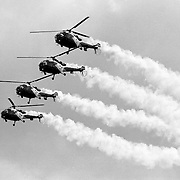 Afscheid van helicopter demoteam the Grasshoppers vliegbasis Soesterberg