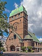 Szczecin, (woj. zachodniopomorskie), 15.07.2013. Kościół Najświętszego Serca Pana Jezusa.