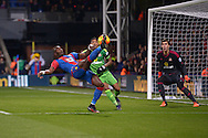 Yannick Bolasie of Crystal Palace attempts a shot  for goal. Barclays Premier league match, Crystal Palace v Sunderland at Selhurst Park in London on Monday 23rd November 2015.<br /> pic by John Patrick Fletcher, Andrew Orchard sports photography.