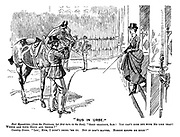 """""""Rus in Urbe."""" Fair equestrian (from the provinces, her first turn in the Row). """"Good gracious, Sam! You can't ride out with me like that! Where are your boots and things?"""" Country groom. """"Lor', Mum, I didn't bring 'em up. But it don't matter. Nobody knows me here!"""""""