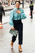 AMSTERDAM, 29-09-2021,  Stedelijk Museum<br /> <br /> Touria Meliani tijdens aanwezig bij de viering van het 50-jarig jubileum van Fonds Kwadraat in het Stedelijk Museum in Amsterdam. De bijeenkomst staat in het teken van ontmoeting en verbinding tussen kunstenaars, professionals uit de kunstwereld en kunstliefhebbers<br /> FOTO: Brunopress/Patrick van Emst<br /> <br /> Queen Maxima during the celebration of the 50th anniversary of Fonds Kwadraat in the Stedelijk Museum in Amsterdam. The meeting is all about meeting and connection between artists, professionals from the art world and art lovers